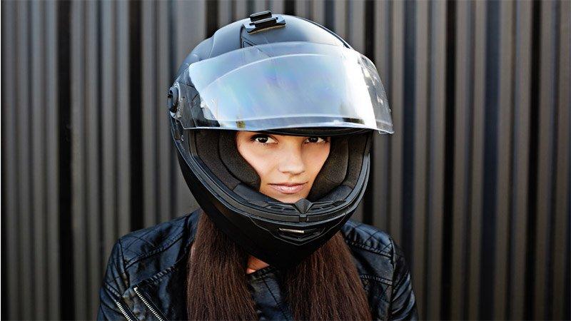Greasy Hair Girl Wearing Helmet